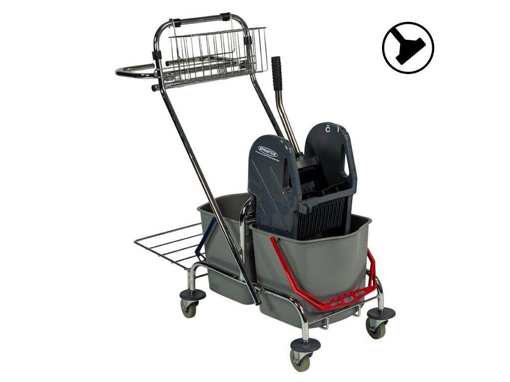 Úklidový vozík se dvěma vědry Chrom Pro