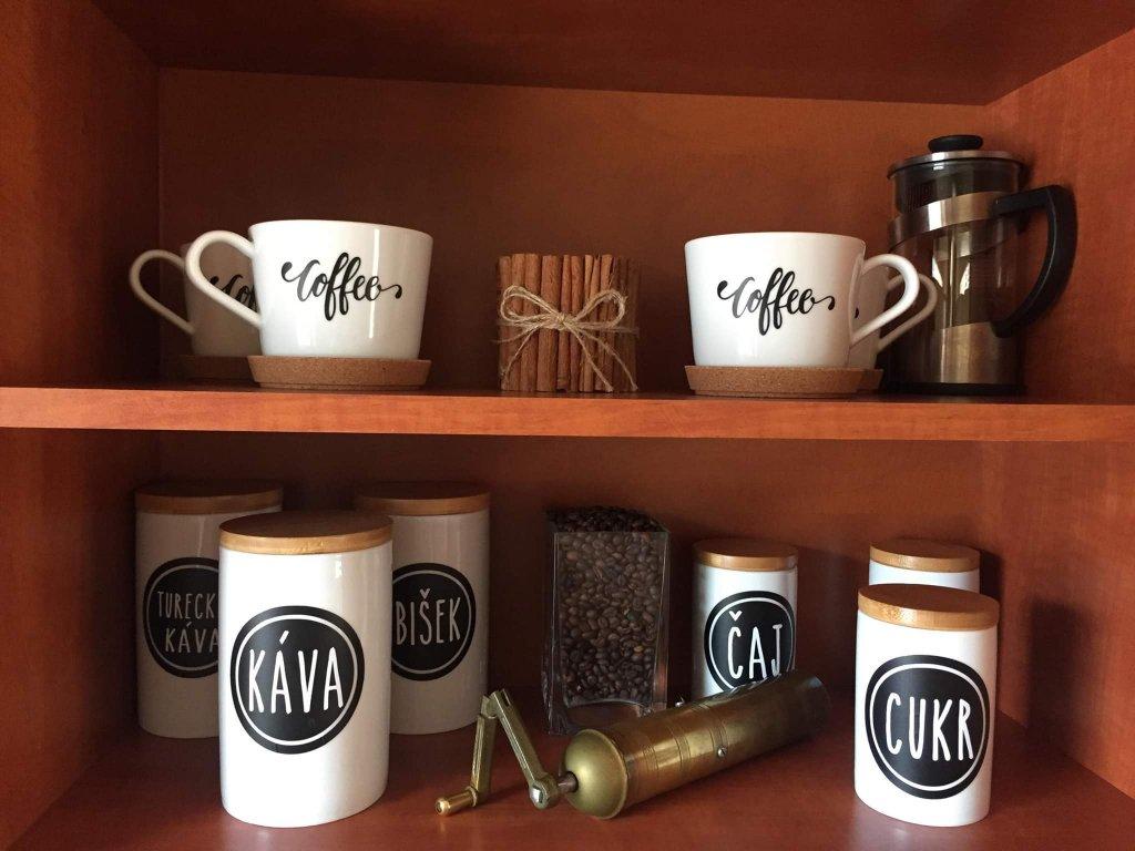 samolepky kava