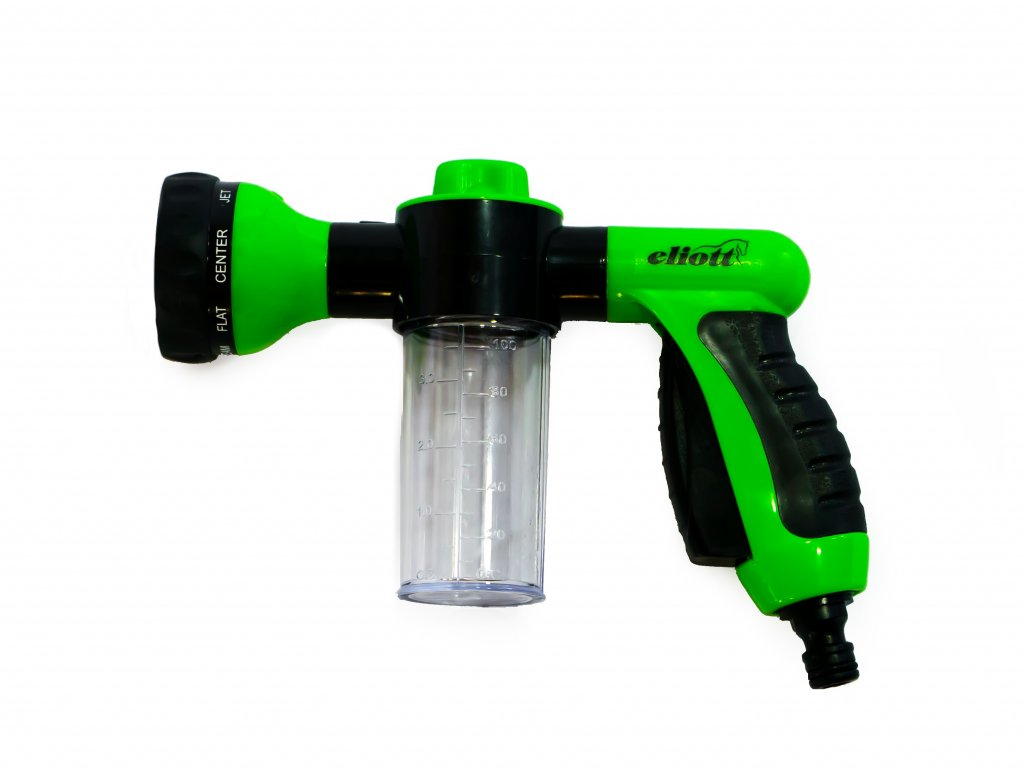 Sprchovací pistole s dávkovačem šamponu