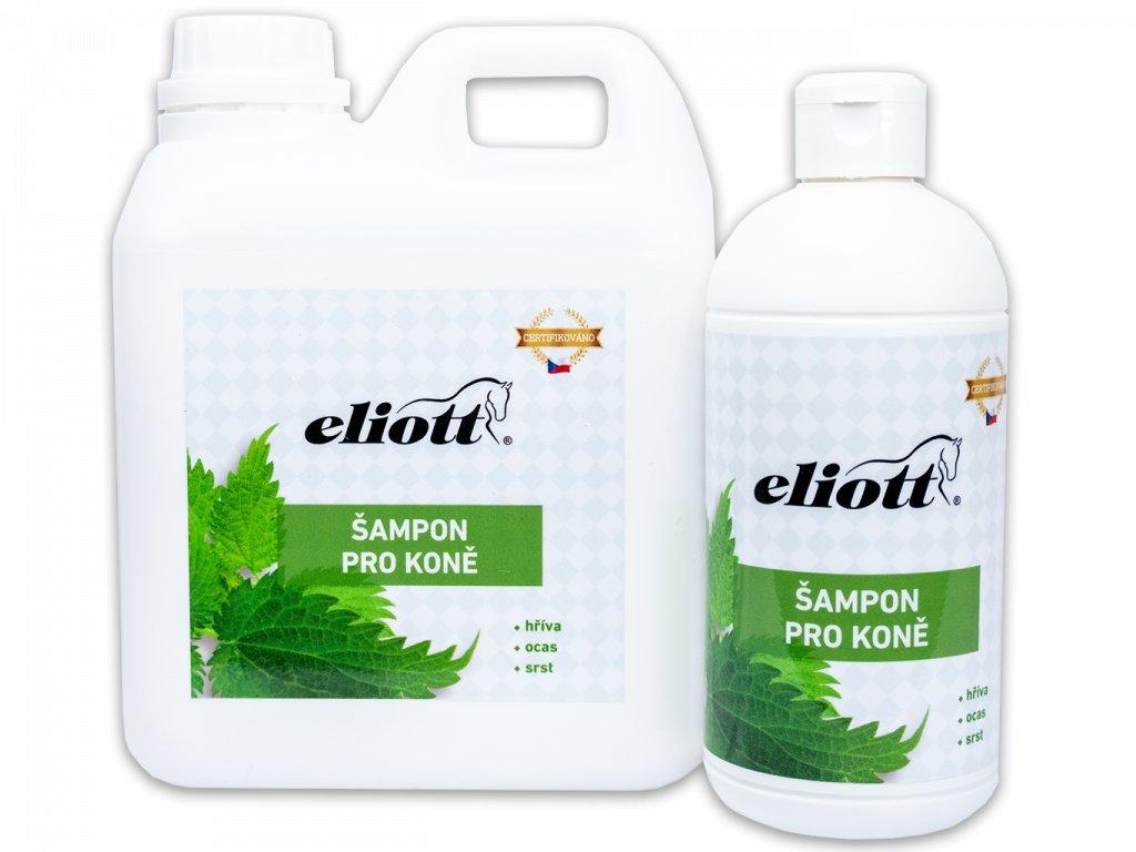 Veterinární šampon pro koně s kopřivou
