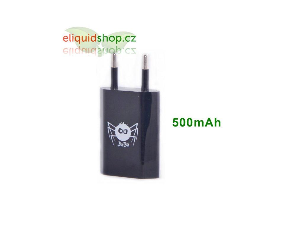 Síťový adaptér s USB 500mAh - černý