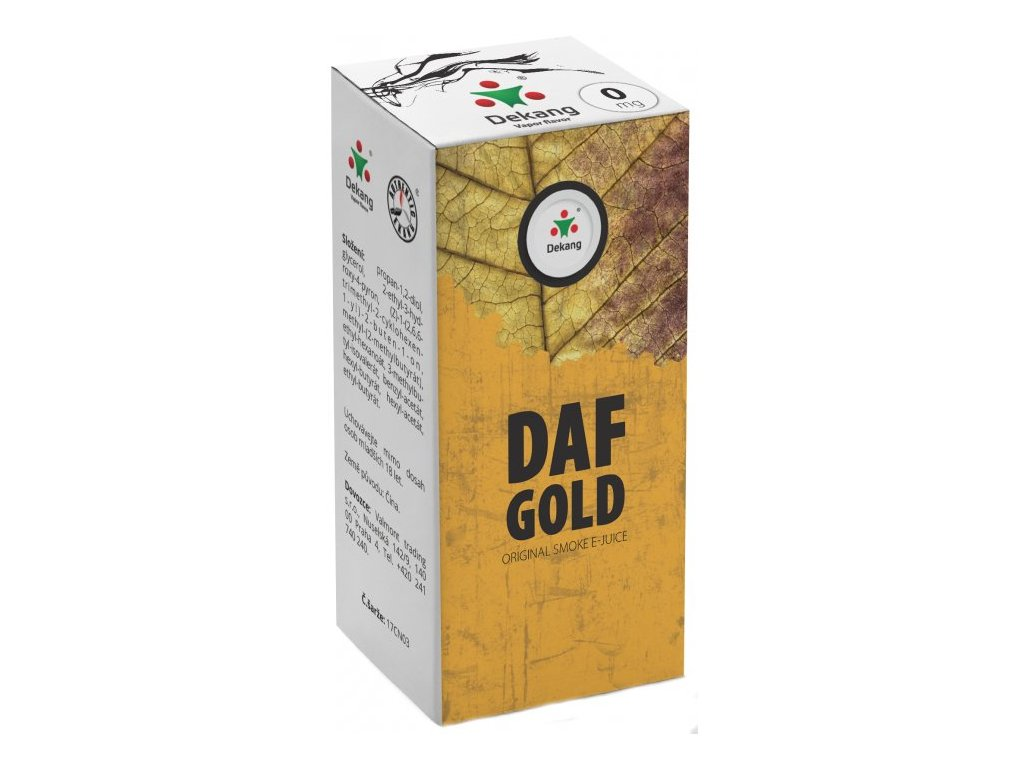 e-liquid Dekang DAF GOLD, 10ml - 0mg nikotinu/ml