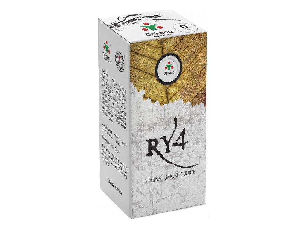 e-liquid Dekang RY4 (Směs karamelu, vanilky a tabáku), 10ml - 0mg nikotinu/ml