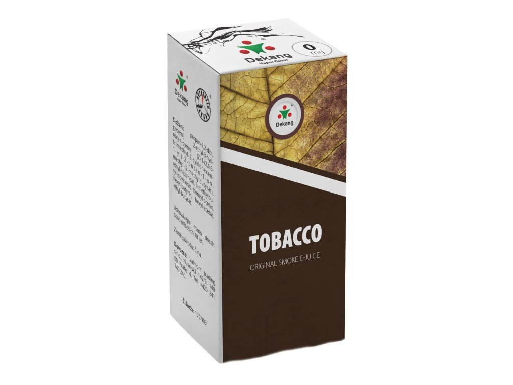 e-liquid Dekang TOBACCO (Tabák), 10ml - 0mg nikotinu/ml
