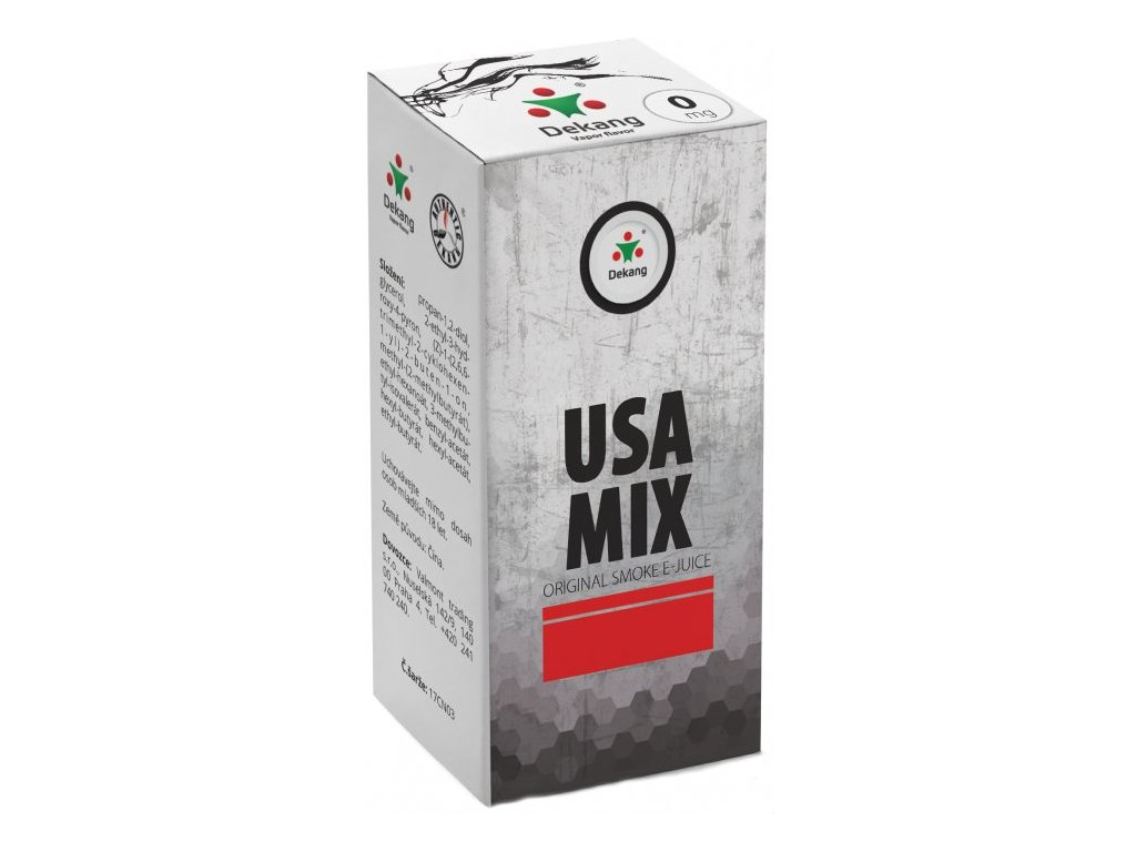 e-liquid Dekang USA MIX, 10ml - 0mg nikotinu/ml