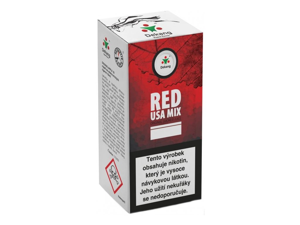 e-liquid Dekang RED USA MIX, 10ml - 18mg nikotinu/ml