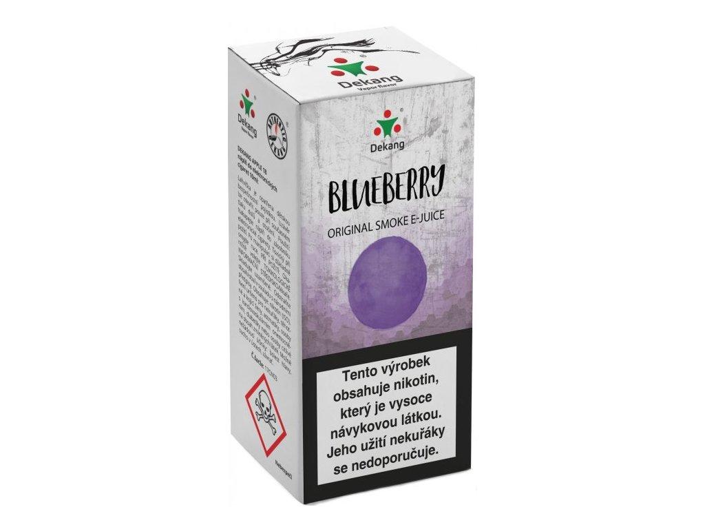 e-liquid Dekang Blueberry (Borůvka), 10ml - 18mg nikotinu/ml