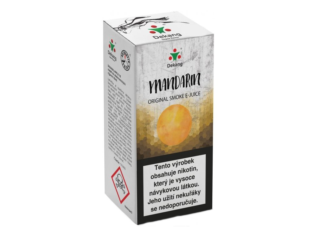 e-liquid Dekang Mandarin (Mandarinka), 10ml - 18mg nikotinu/ml