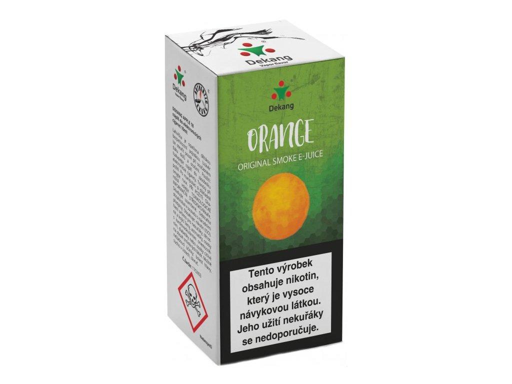 e-liquid Dekang Orange (Pomeranč), 10ml - 6mg nikotinu/ml