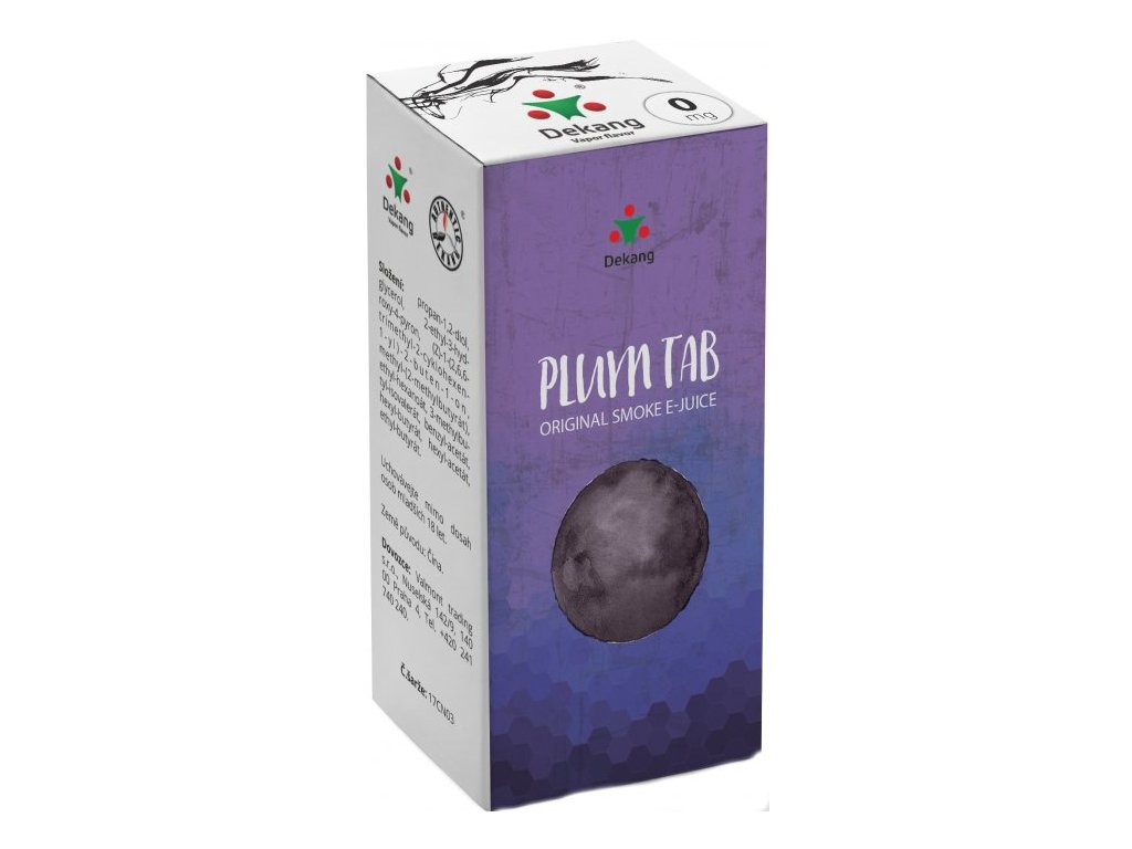 e-liquid Dekang Plum TAB (Sušená švestka), 10ml - 0mg nikotinu/ml