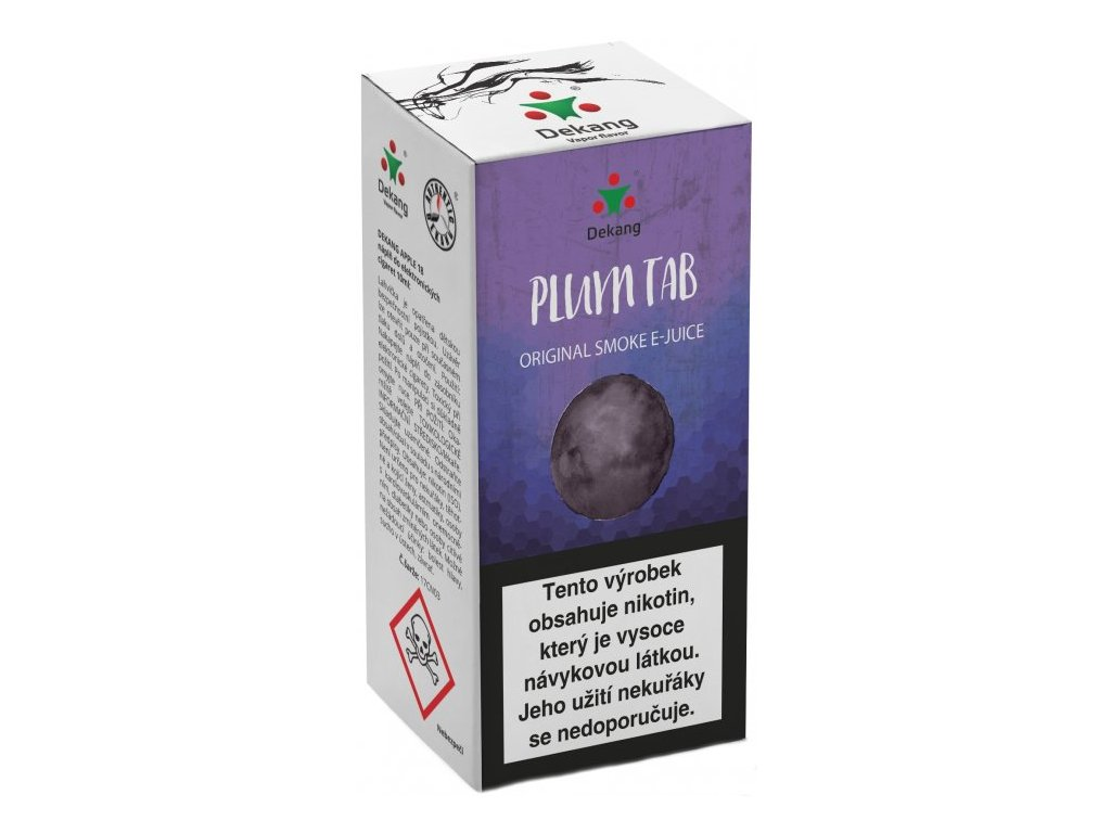 e-liquid Dekang Plum TAB (Sušená švestka), 10ml - 11mg nikotinu/ml