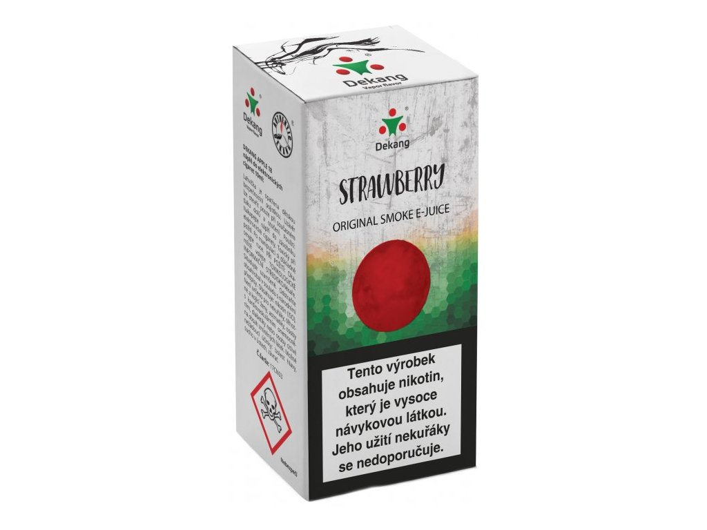 e-liquid Dekang Strawberry (Jahoda), 10ml - 18mg nikotinu/ml