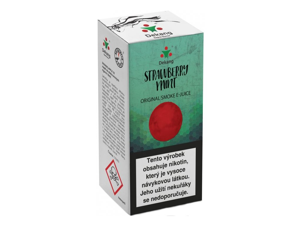 e-liquid Dekang Strawberry Mint (Jahoda s mátou), 10ml - 6mg nikotinu/ml