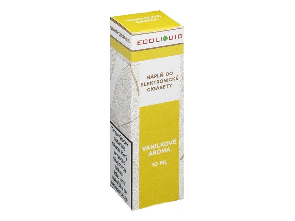 e-liquid Ecoliquid VANILA 10ml - 0mg nikotinu/ml