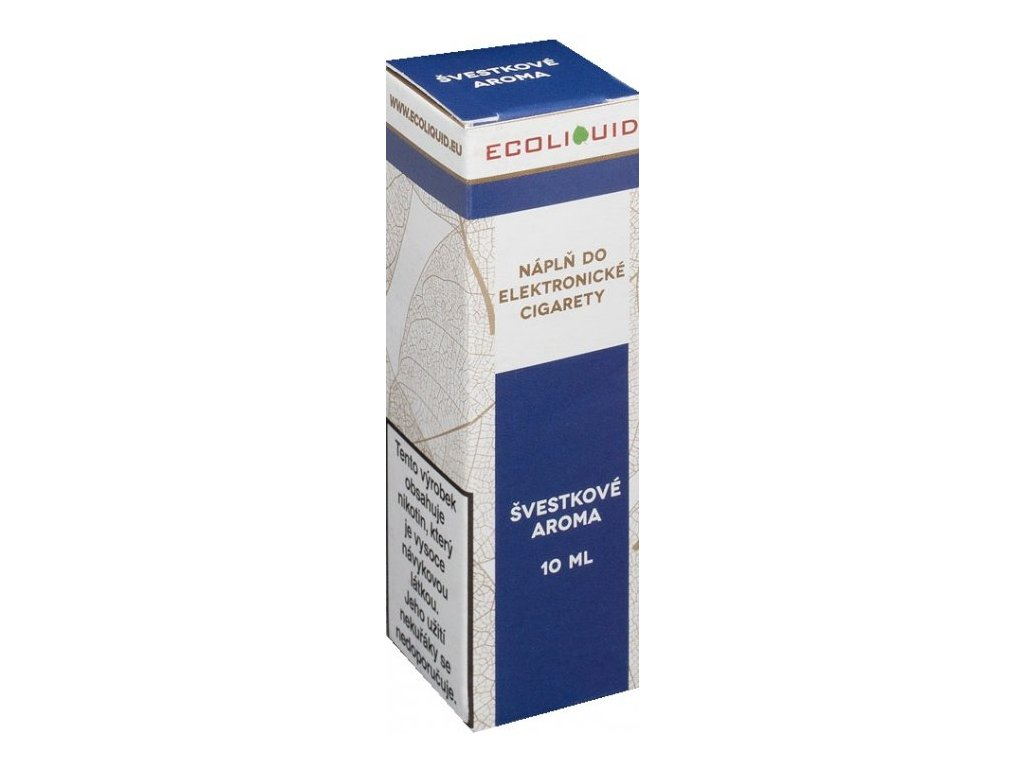e-liquid Ecoliquid PLUM 10ml - 12mg nikotinu/ml