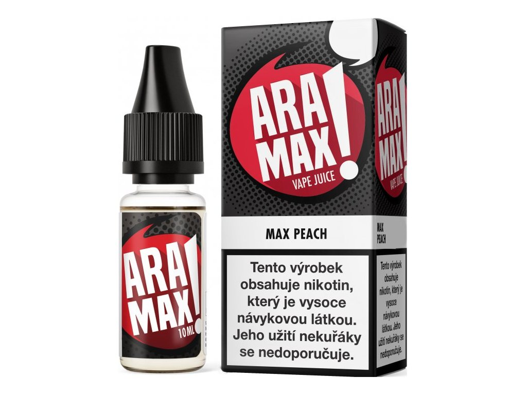 e-liquid ARAMAX Peach 10ml - 6mg nikotinu/ml