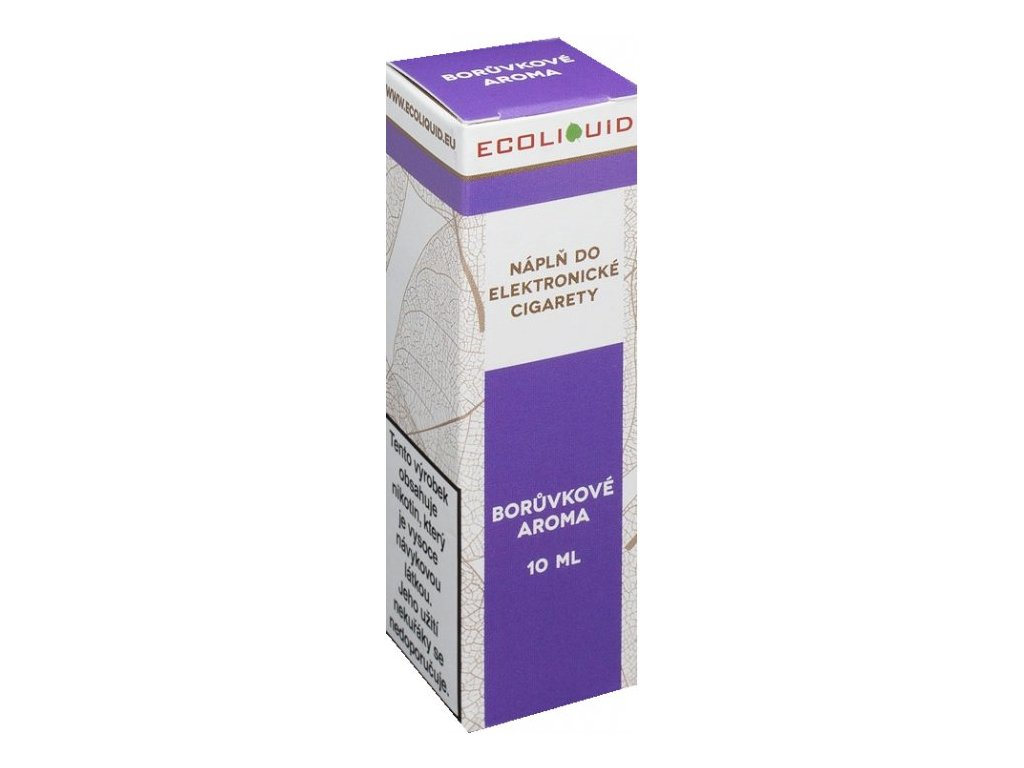 e-liquid Ecoliquid BLUEBERRY 10ml - 12mg nikotinu/ml