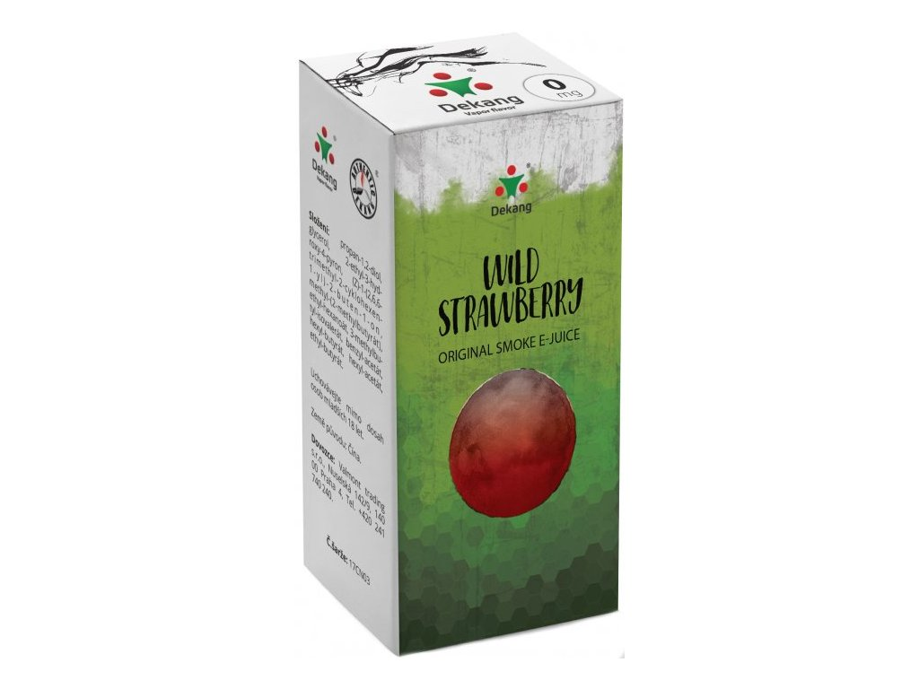 e-liquid Dekang Wild Strawberry (Lesní Jahoda), 10ml - 0mg nikotinu/ml