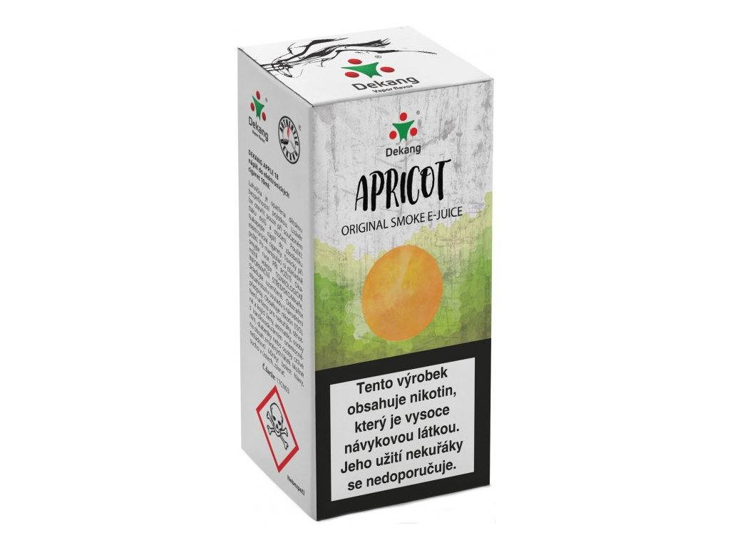 e-liquid Dekang Apricot (Meruňka), 10ml - 16mg nikotinu/ml