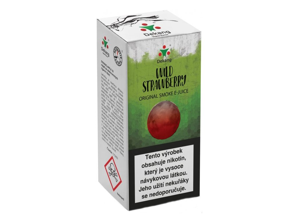 e-liquid Dekang Wild Strawberry (Lesní Jahoda), 10ml - 6mg nikotinu/ml