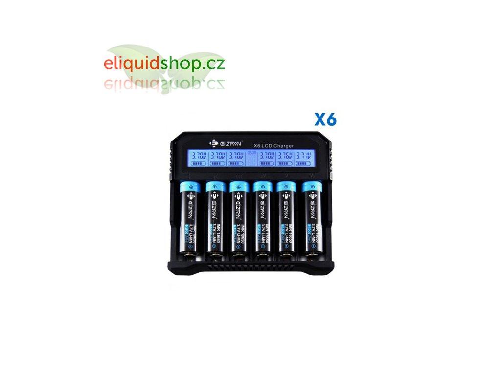 Efan X6 LCD nabíječka pro monočlánky