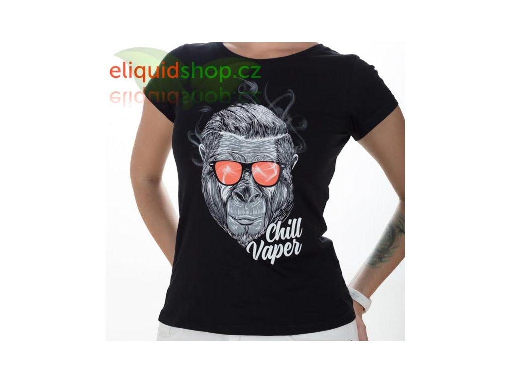 Tričko - Chill Vaper černá - dámské - M