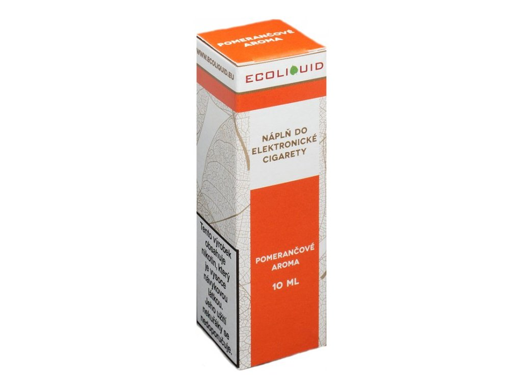 e-liquid Ecoliquid ORANGE 10ml - 6mg nikotinu/ml