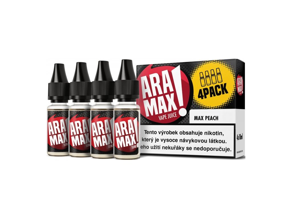 e-liquid ARAMAX Max Peach 4x10ml