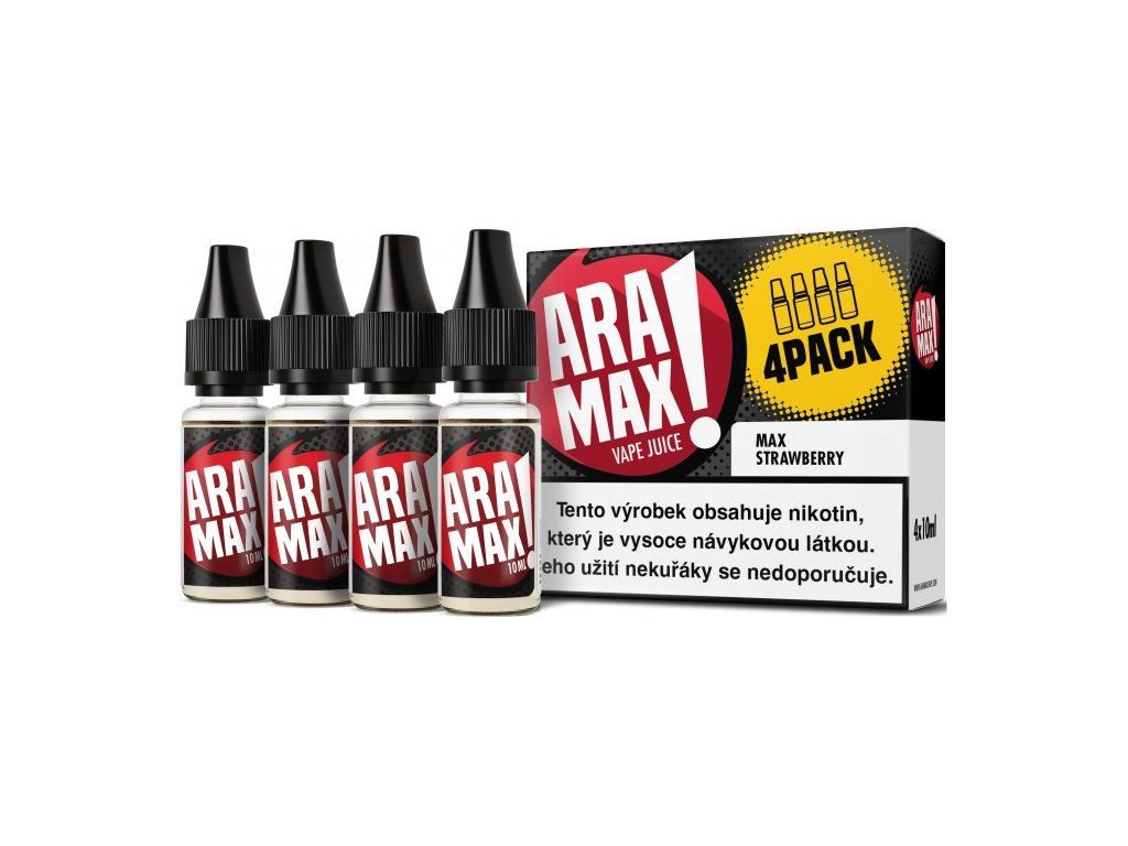 e-liquid ARAMAX Max Strawberry 4x10ml