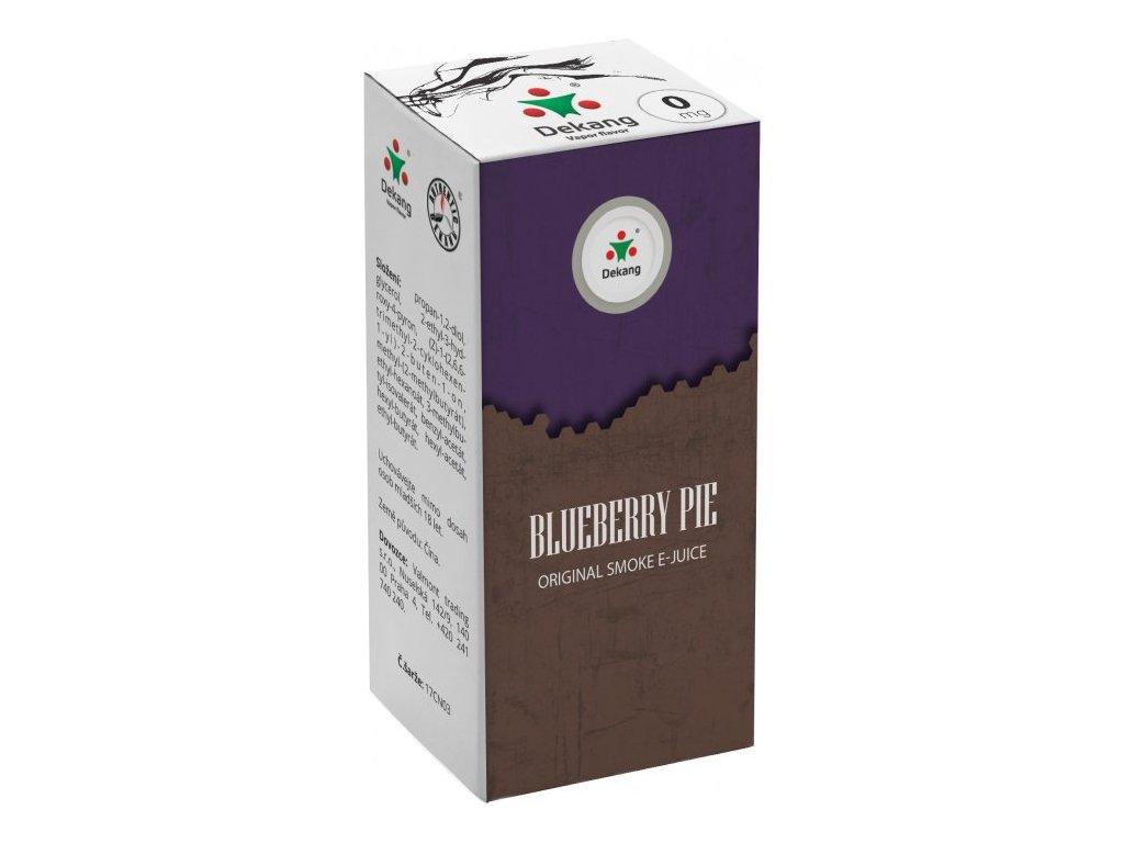 e-liquid Dekang Blueberry Pie (Borůvkový koláč), 10ml - 0mg nikotinu/ml