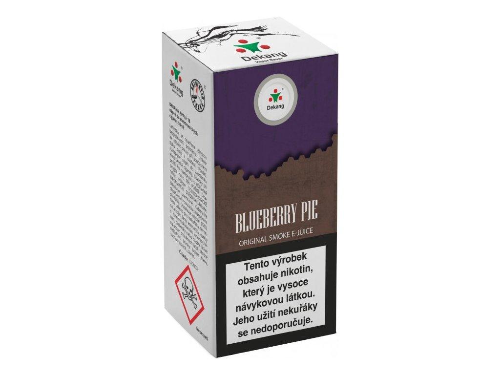 e-liquid Dekang Blueberry Pie (Borůvkový koláč), 10ml - 6mg nikotinu/ml