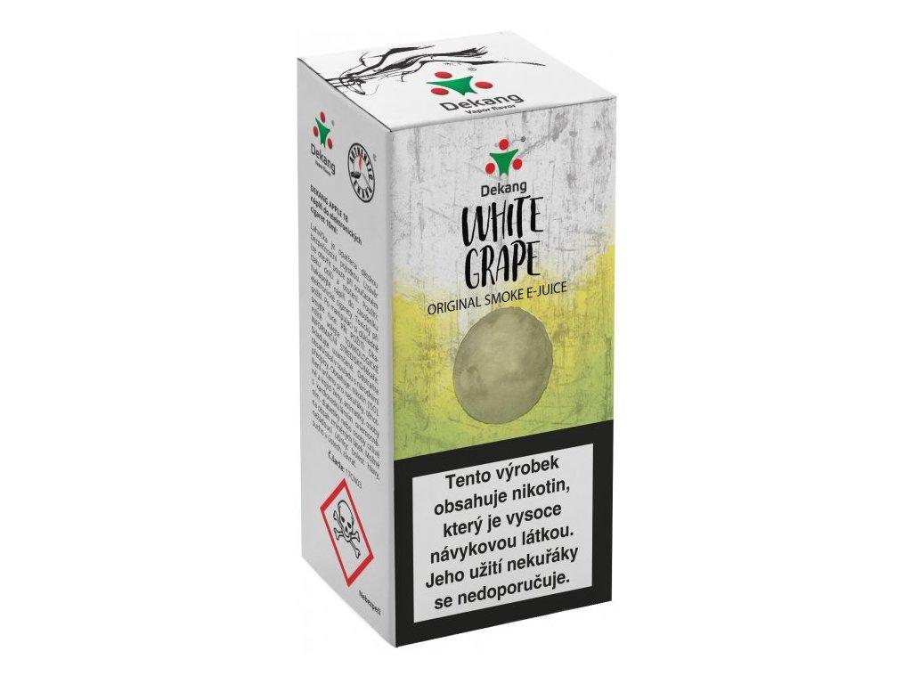 e-liquid Dekang White Grape (Bílé hroznové víno), 10ml - 18mg nikotinu/ml