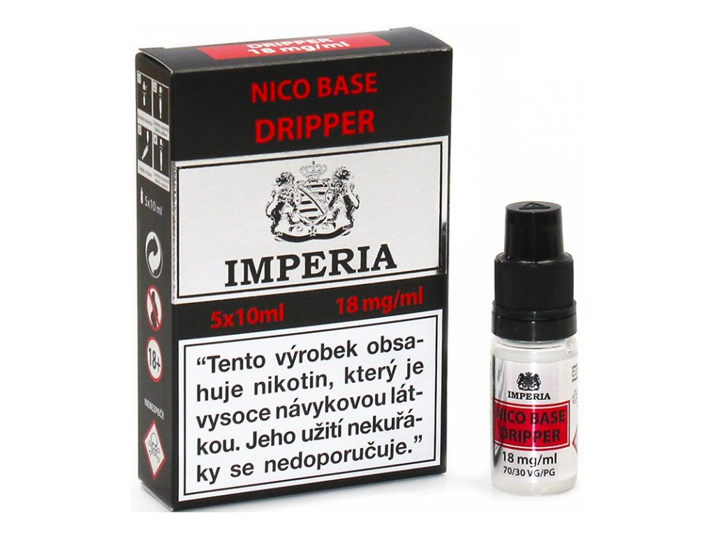 nikotinova baze cz imperia dripper 5x10ml pg30vg70 18mg
