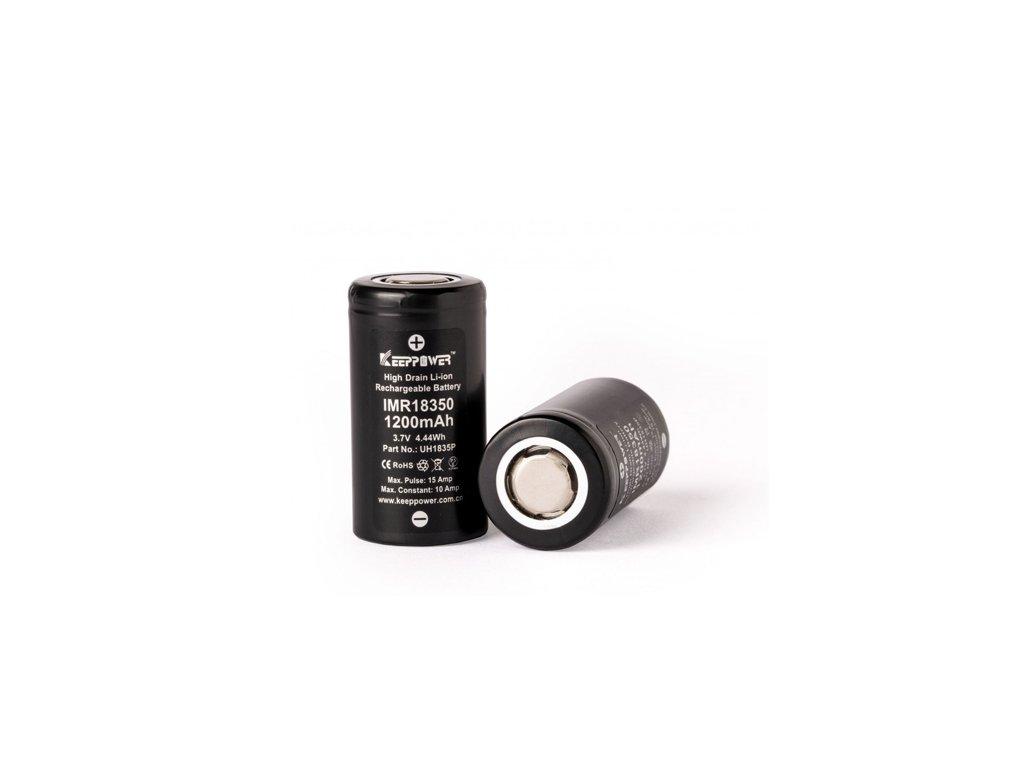 Baterie Keeppower IMR 18350 - 1200mAh, 10A