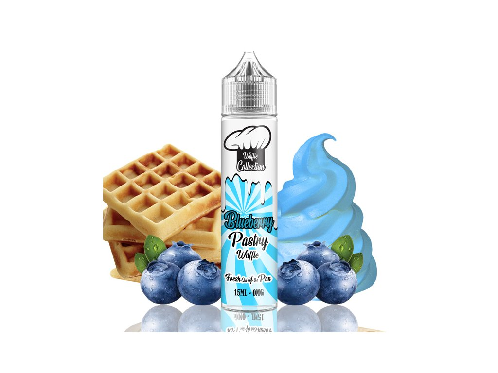 waffle blueberry pastry