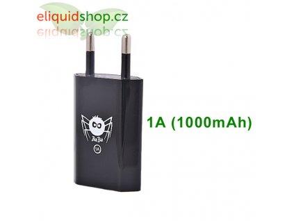 Síťový adaptér s USB 1A (1000mAh) - černý