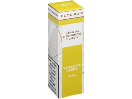 e-liquid Ecoliquid VANILA 10ml - 12mg nikotinu/ml