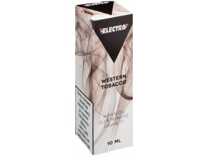 e-liquid ELECTRA Western Tobacco 10ml - 6mg nikotinu/ml