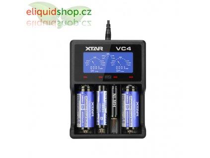 XTAR VC4 nabíječka pro monočlánky