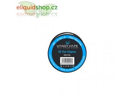 Vandy Vape flat clapton SS316L drát 26ga*18ga+32ga - 3m