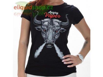 Tričko - Angry Vaper černá - dámské - M