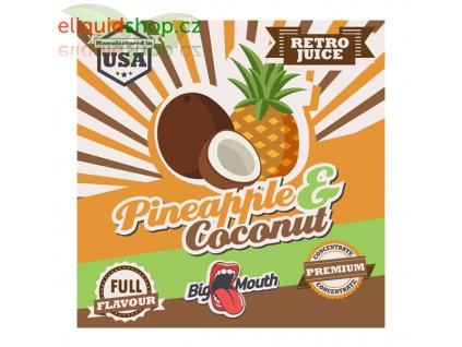 big mouth retro pineapple