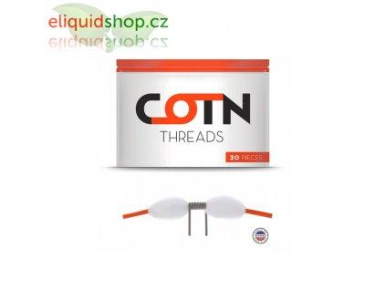 Přírodní vata COTN Threads - chytré proužky (20ks)