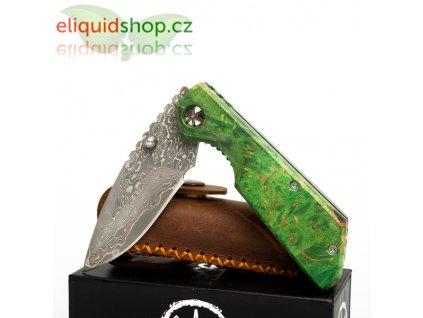 Asmodus damaškový nůž s rukojetí ze stabilizovaného dřeva - 002