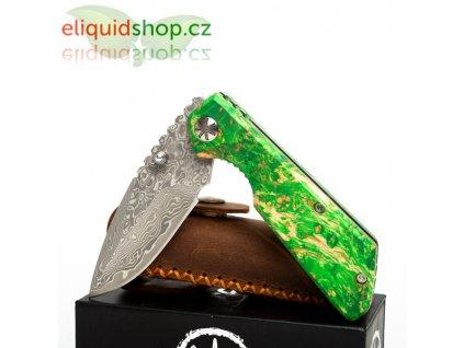Asmodus damaškový nůž s rukojetí ze stabilizovaného dřeva - 003