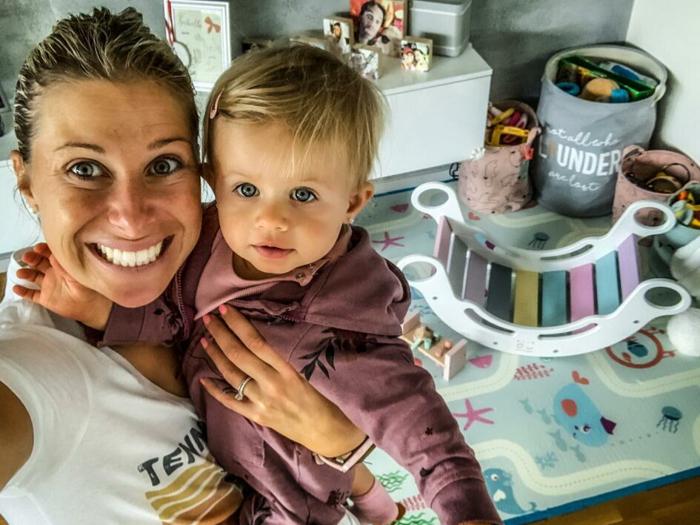 Montessori houpačka zabaví i dostatečně unaví :) ...říká Andrea Hlaváčková