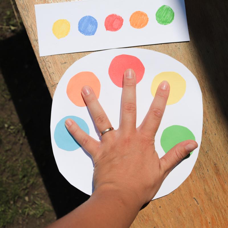 DIY Hra na učení barev