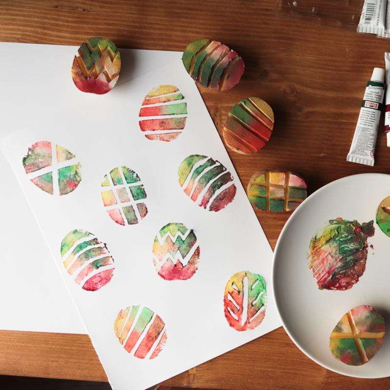 DIY Velikonoční razítka z brambor
