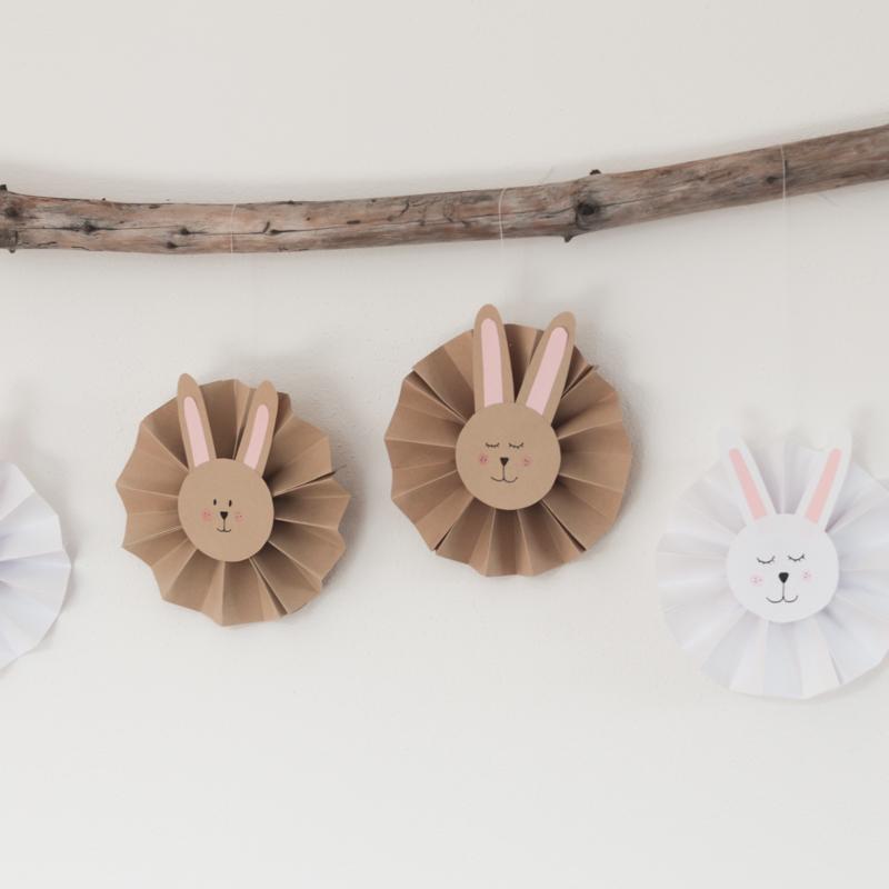 DIY Zajíčci z papíru