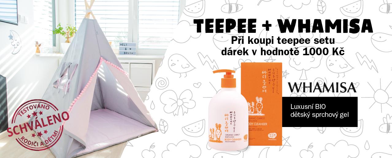Nakup jakýkoli teepee stan na www.elisdesign.cz a získej dětskou bio kosmetiku v hodnotě 1.000,-